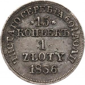 Zabór rosyjski, Mikołaj I, 15 kopiejek = 1 złoty 1836 MW, Warszawa