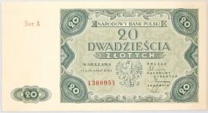 PRL, 20 złotych 15.07.1947, seria A