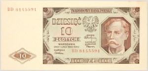 PRL, 10 złotych 1.07.1948, seria BD