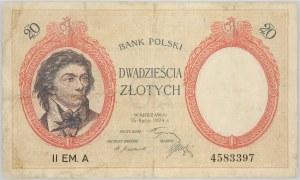II RP, 20 złotych 15.07.1924, II Emisja, Seria A