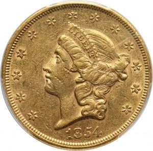 Stany Zjednoczone Ameryki, 20 dolarów 1854, Filadelfia
