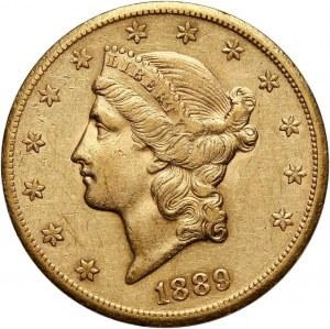Stany Zjednoczone Ameryki, 20 dolarów 1889 CC, Carson City