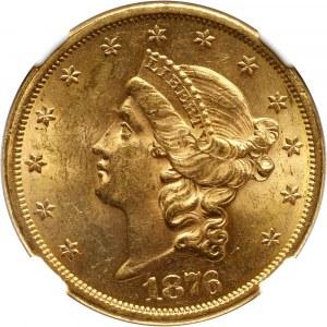 Stany Zjednoczone Ameryki, 20 dolarów 1876 S, San Francisco
