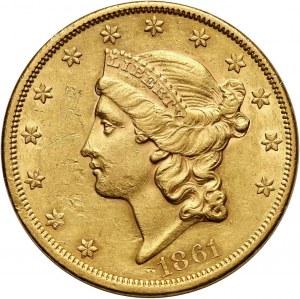 Stany Zjednoczone Ameryki, 20 dolarów 1861, Filadelfia