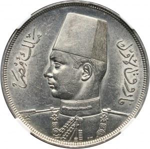 Egipt, Faruk I, 20 piastrów AH1358 (1939)