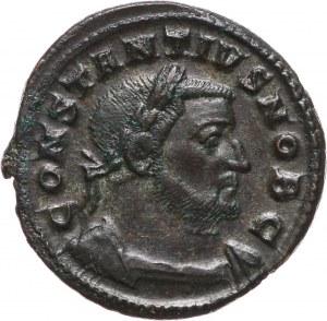 Cesarstwo Rzymskie, Konstancjusz I Chlorus 293-306, follis, Trier
