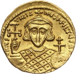 Bizancjum, Justynian II 705-711, solidus, Konstantynopol
