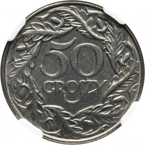 Generalna Gubernia, 50 groszy 1938, Warszawa, żelazo