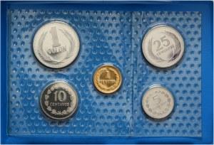 Salwador, zestaw 5 monet z 1987/89 roku, stempel lustrzany
