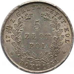 Powstanie Listopadowe, 5 złotych 1831 KG, Warszawa