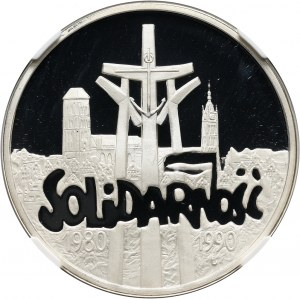 III RP, 100000 złotych 1990, Solidarność, PRÓBA, Typ D