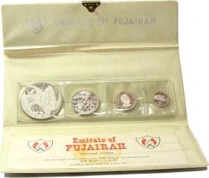 Fujairah, zestaw 4 srebrnych monet z 1969 roku