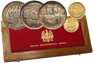II RP, zestaw 10 i 20 złotych Bolesław Chrobry 1925 oraz 3 x 100 złotych Mieszko i Dąbrówka 1966