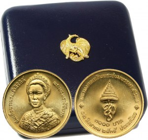 Tajlandia, Rama IX, 3000 Baht 1992, 60 urodziny królowej Sirikit