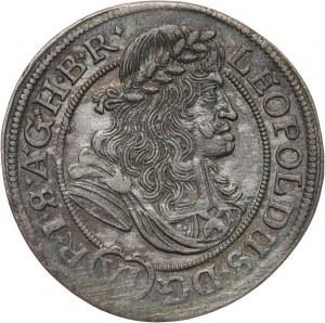 Śląsk pod panowaniem austriackim, Leopold I, 6 krajcarów 1681 F.I.K., Opole