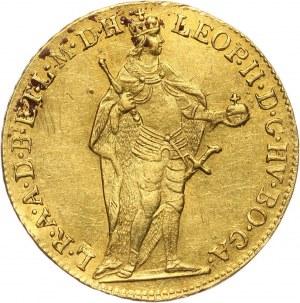 Węgry, Leopold II, dukat 1790, Kremnica