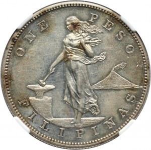 Filipiny pod administracją USA, Peso 1904, stempel lustrzany (Proof)