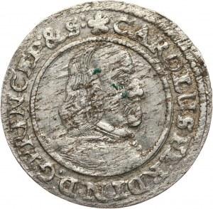 Śląsk, Księstwo Opolsko-Raciborskie, Karol Ferdynand Waza, 3 krajcary 1654, Opole