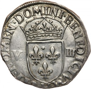 Henryk Walezy, 1/4 ecu 1581 H, La Rochelle