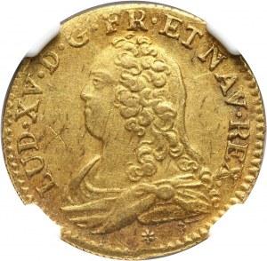 Francja, Ludwik XV, Louis d'or 1732/1 C, Caen