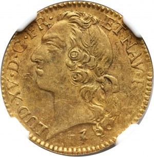 Francja, Ludwik XV, Louis d'or 1748 W, Lille