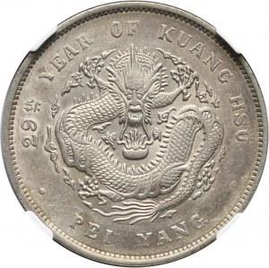 Chiny, Chihli, dolar rok 29 (1903)