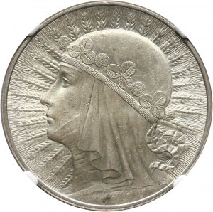 II RP, 10 złotych 1932, Warszawa, głowa kobiety