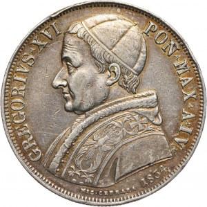 Watykan, Grzegorz XVI, scudo 1834-IV R, Rzym