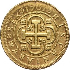 Hiszpania, Filip V, 8 escudos 1701, Sewilla