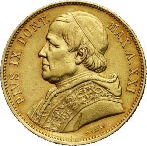 Watykan, Pius IX, 100 lirów 1866 XXIR, Rzym