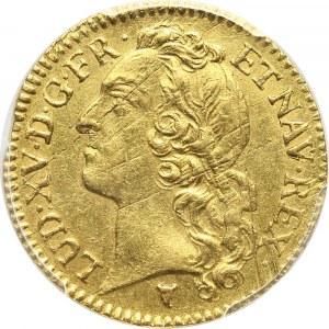 Francja, Ludwik XV, Louis d'or 1743 I, Limoges