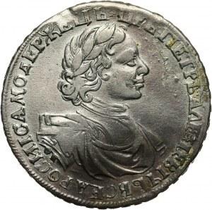 Rosja, Piotr I, rubel 1719 OK, Krasnyj Dvor