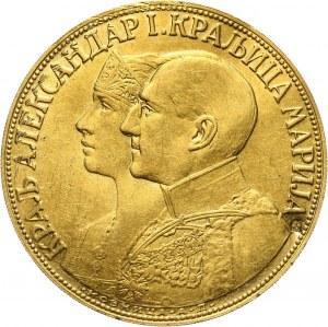 Jugosławia, Aleksander I, 4 dukaty 1931, kontramarka - kolba kukurydzy