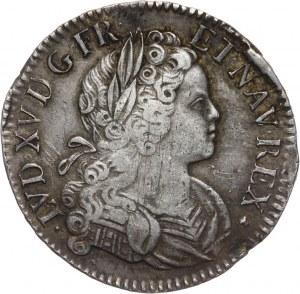 Francja, Ludwik XV, Écu de Navarre 1718 M, Tuluza