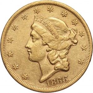 Stany Zjednoczone Ameryki, 20 dolarów 1866, Filadelfia