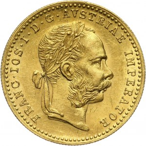 Austria, Franciszek Józef I, dukat 1889, Wiedeń