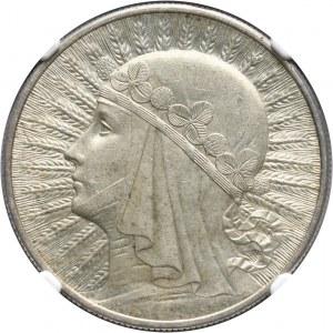II RP, 10 złotych 1932, Londyn, głowa kobiety