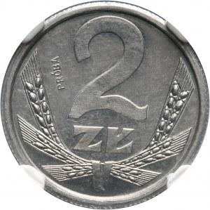 PRL, 2 złote 1989, PRÓBA, aluminium