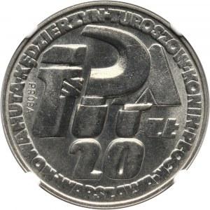 PRL, 20 złotych 1964, Sierp i kielnia, PRÓBA, nikiel