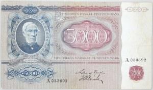 Finlandia, 5000 marek 1939 (1940), seria A033692