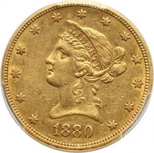 Stany Zjednoczone Ameryki, 10 dolarów 1880 O, Nowy Orlean