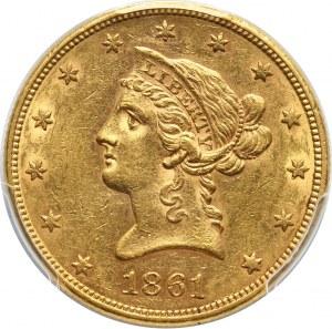Stany Zjednoczone Ameryki, 10 dolarów 1861, Filadelfia