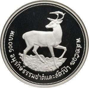 Tajlandia, Rama IX, 100 Baht 1974, Jeleń, stempel lustrzany