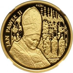 III RP, 100000 złotych 1991, Jan Paweł II, PRÓBA, złoto