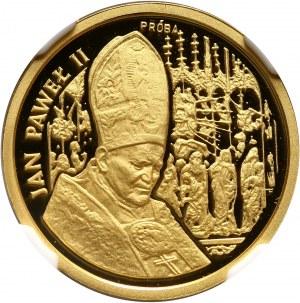 III RP, 50000 złotych 1991, Jan Paweł II, PRÓBA, złoto