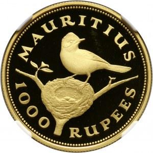 Mauritius, 1000 rupii 1975, Muchodławka maskareńska, stempel lustrzany