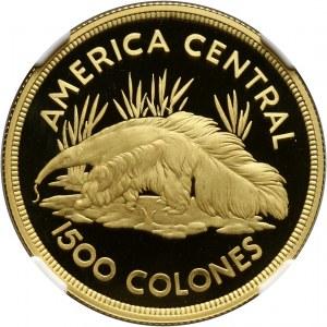 Kostaryka, 1500 Colones 1974, Mrówkojad, stempel lustrzany