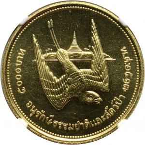 Tajlandia, Rama IX, 5000 Baht 1974, Jaskółka, stempel zwykły