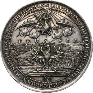 Jan II Kazimierz, medal z 1654 roku, na pamiątkę dwusetnej rocznicy przyłączenia Prus Królewskich do Polski