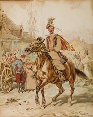 Juliusz Kossak (1824 Nowy Wiśnicz – 1899 Kraków) Drużba krakowski, 1885 r.